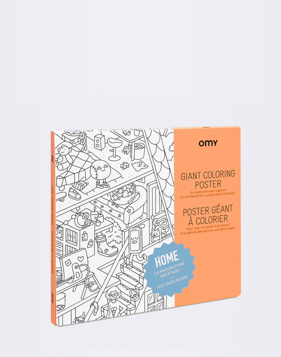 Hry OMY Giant Coloring Poster - Home