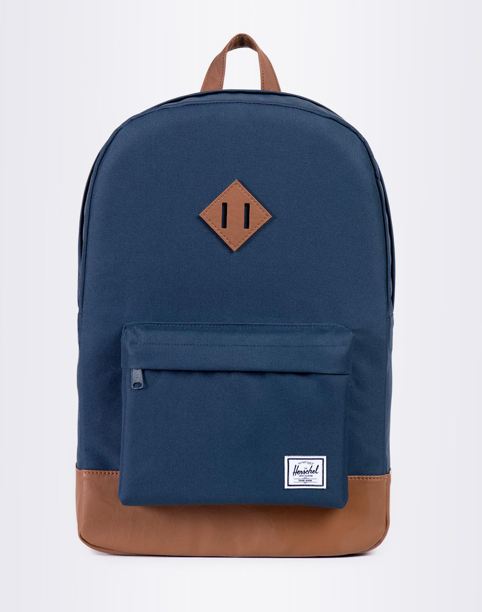 Herschel Supply Heritage Navy Tan Synthetic Leather