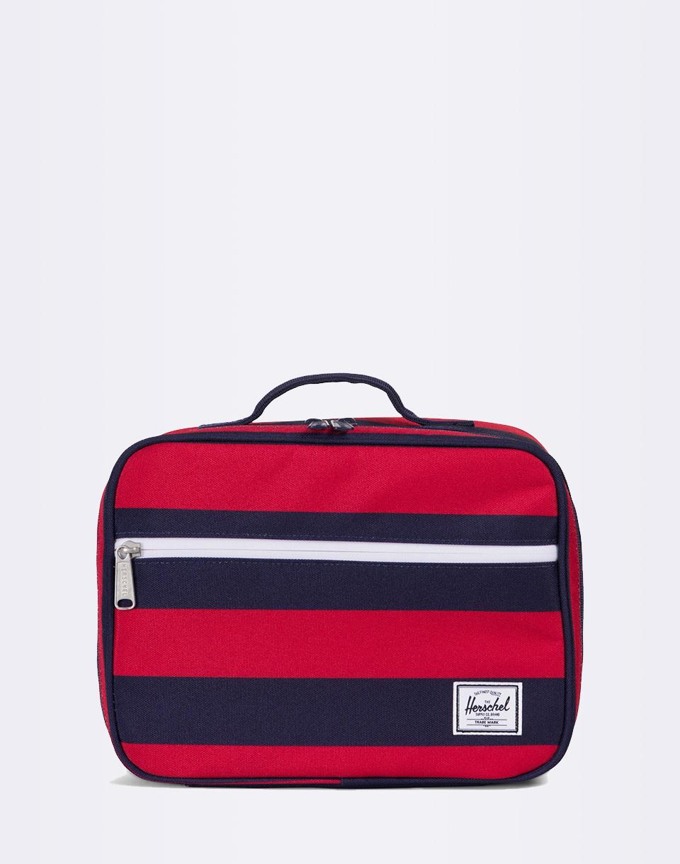 Herschel Supply Pop Quiz Lunchbox Peacoat/Red Stripe + novinka