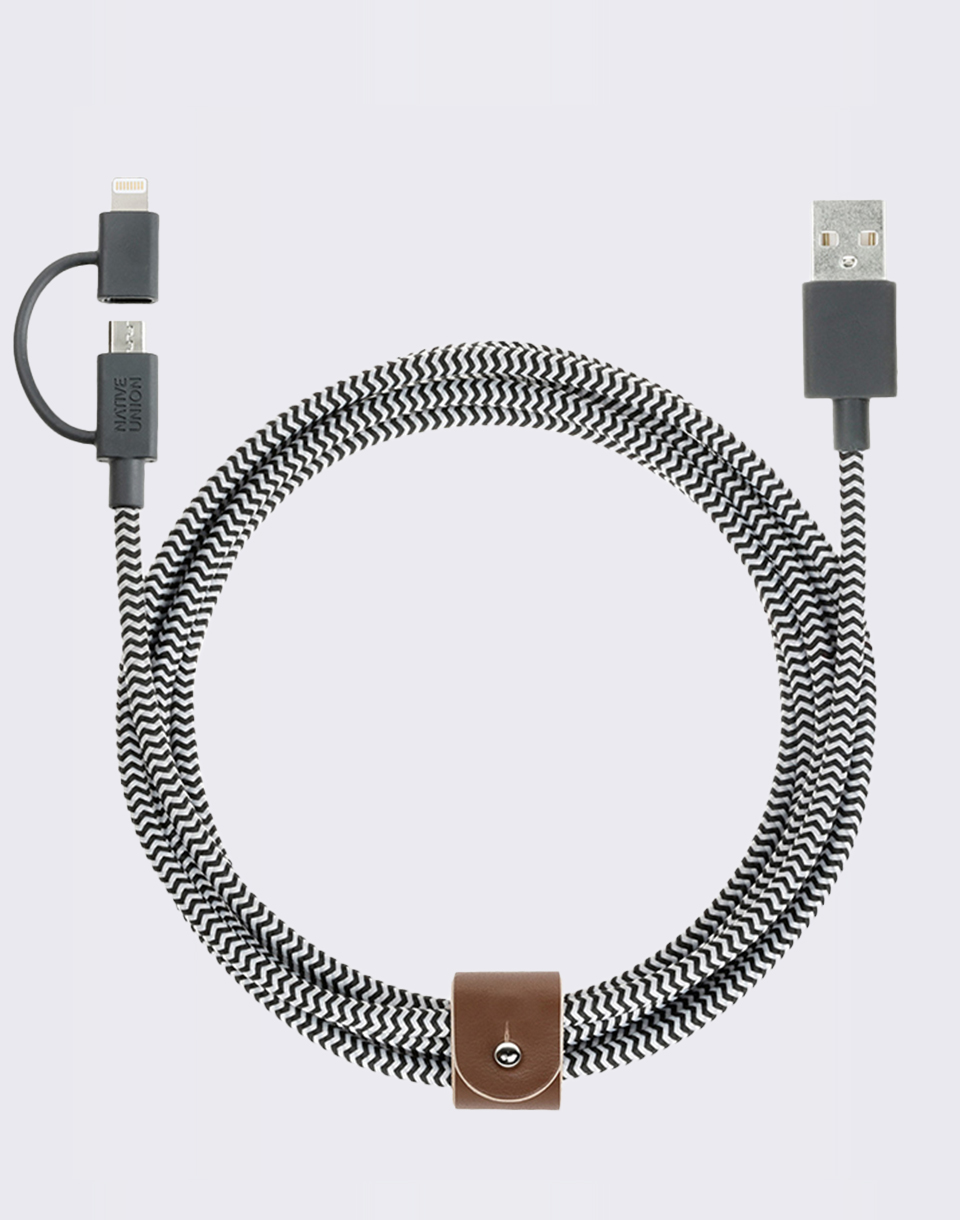 Native Union Belt Cable Twin Head Zebra