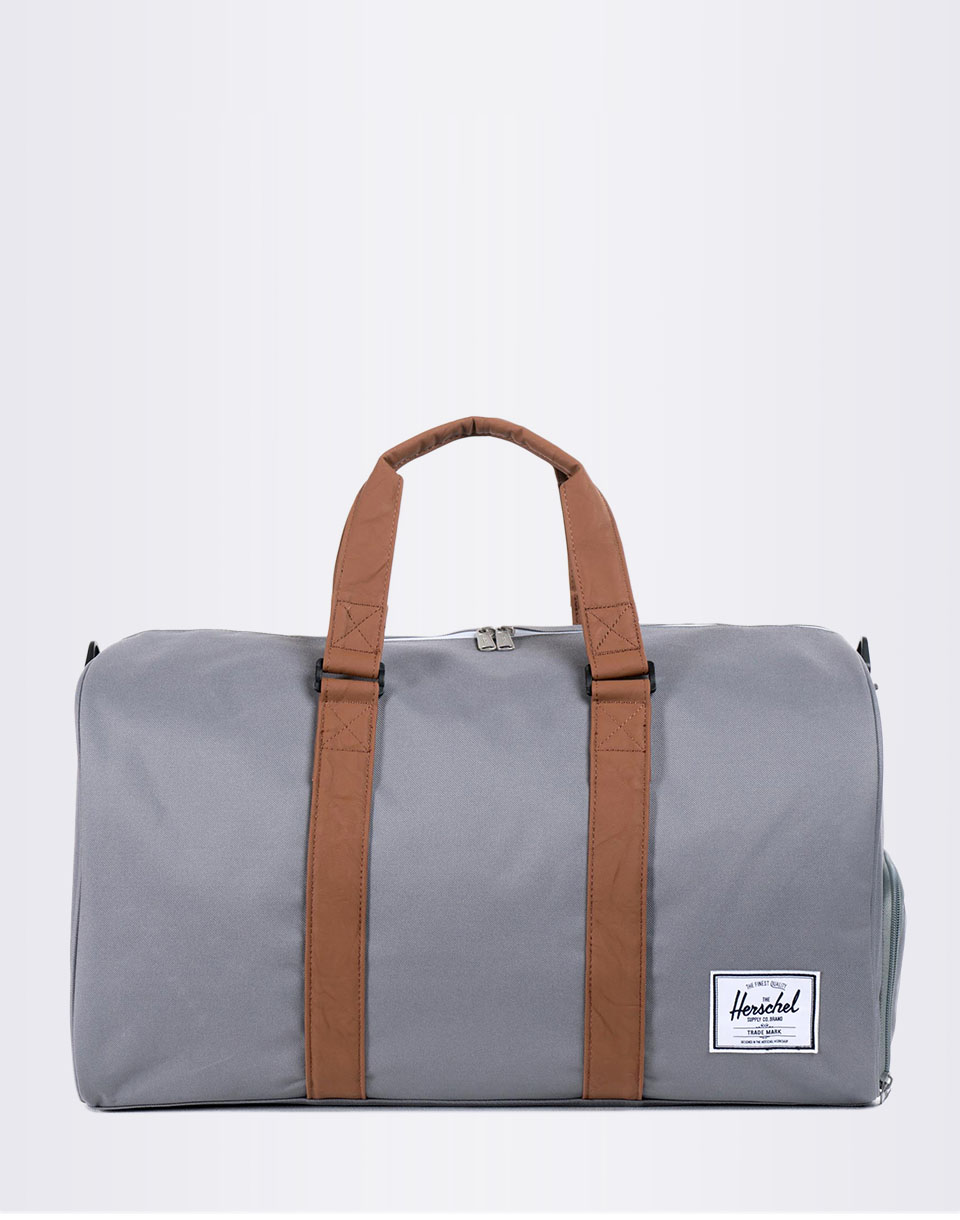 Herschel Supply Novel Grey Tan Synthetic Leather