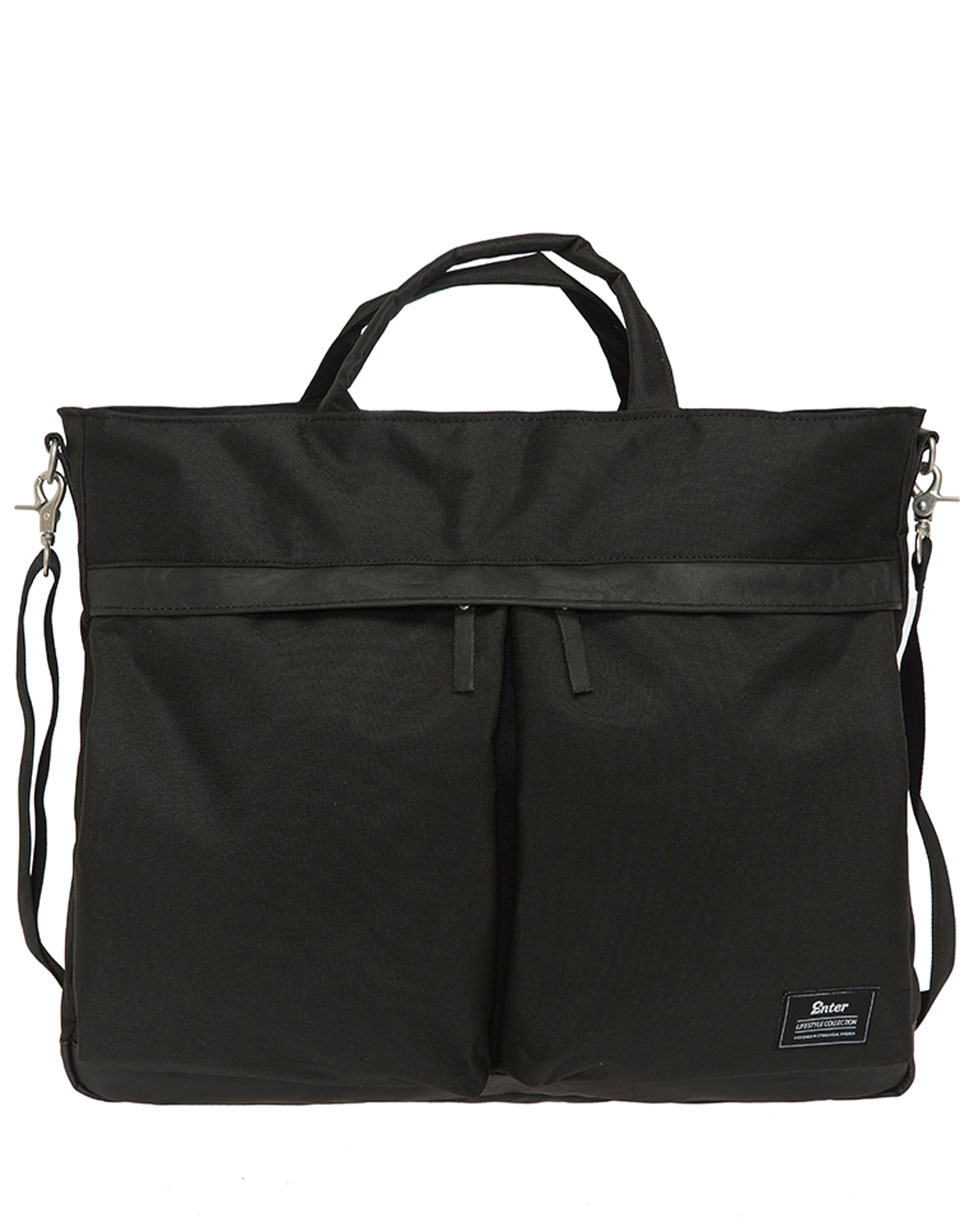 Enter Helmet Tote Bag Black