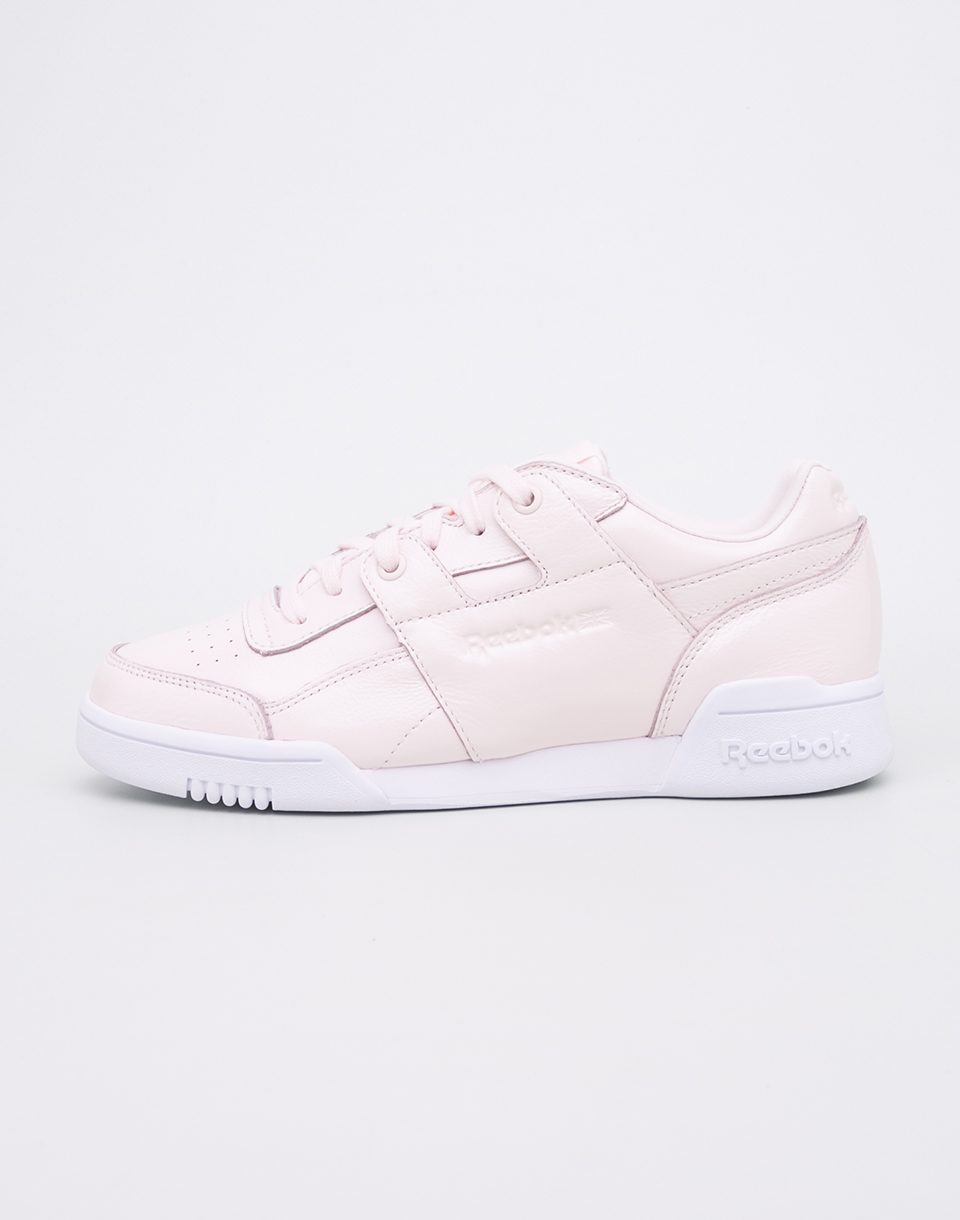 Reebok Workout Lo Plus Iridescent Pale Pink   White 39