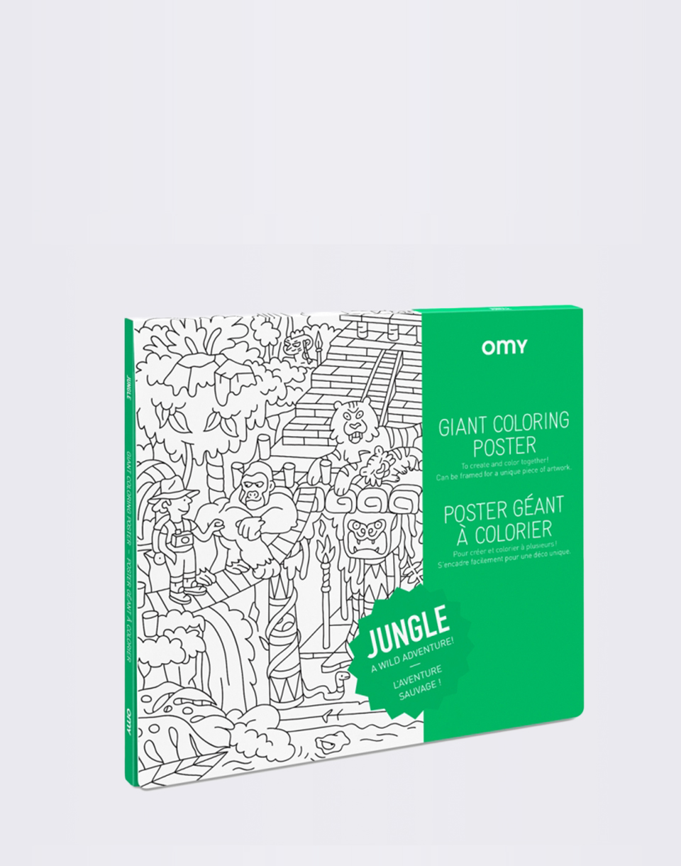 OMY Giant Coloring Poster   Jungle