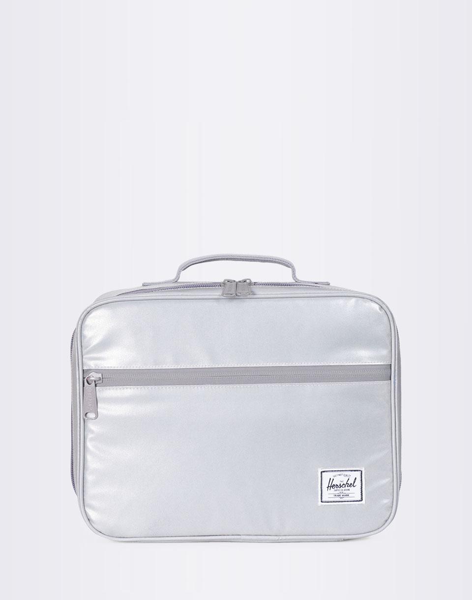 Herschel Supply Pop Quiz Lunchbox Silver Reflective