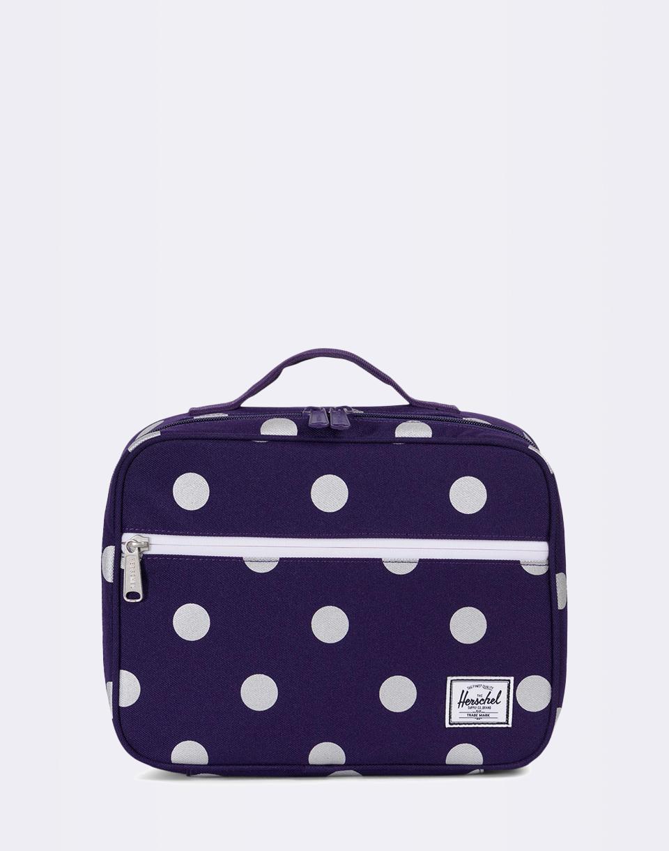 Herschel Supply Pop Quiz Lunchbox Parachute Purple Polka Dot + novinka