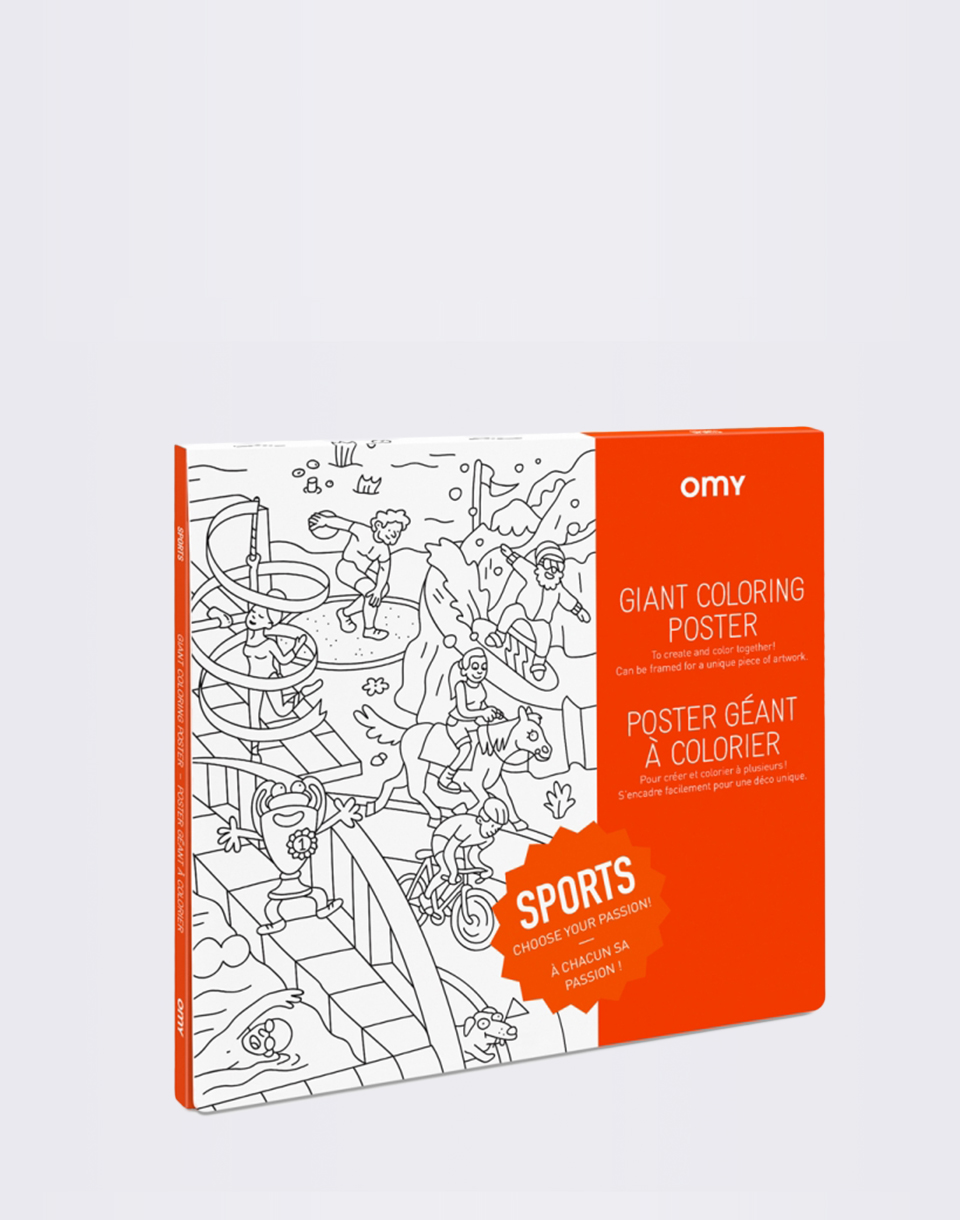 OMY Giant Coloring Poster   Sport