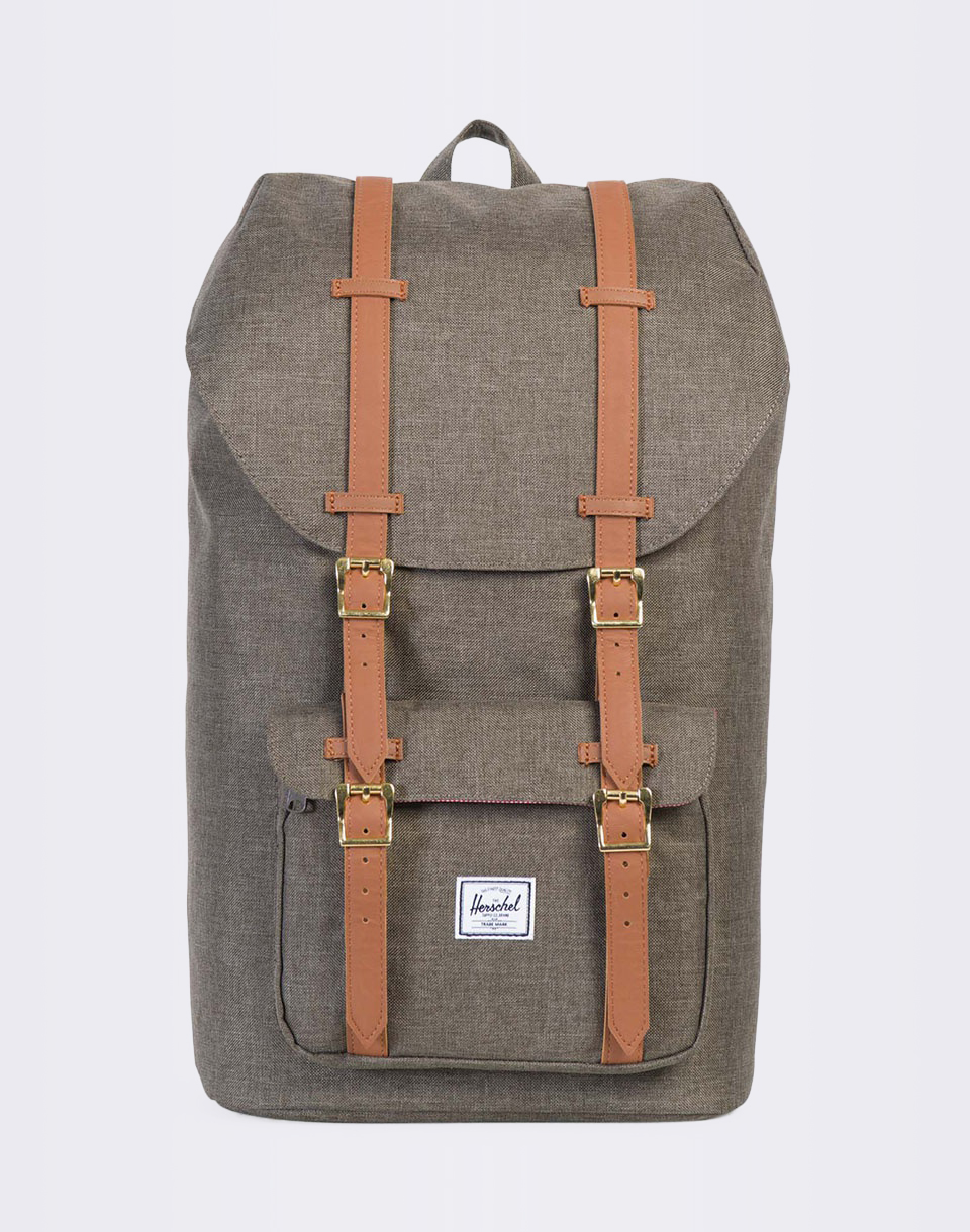 Herschel Supply Little America Canteen Crosshatch   Tan Synthetic Leather