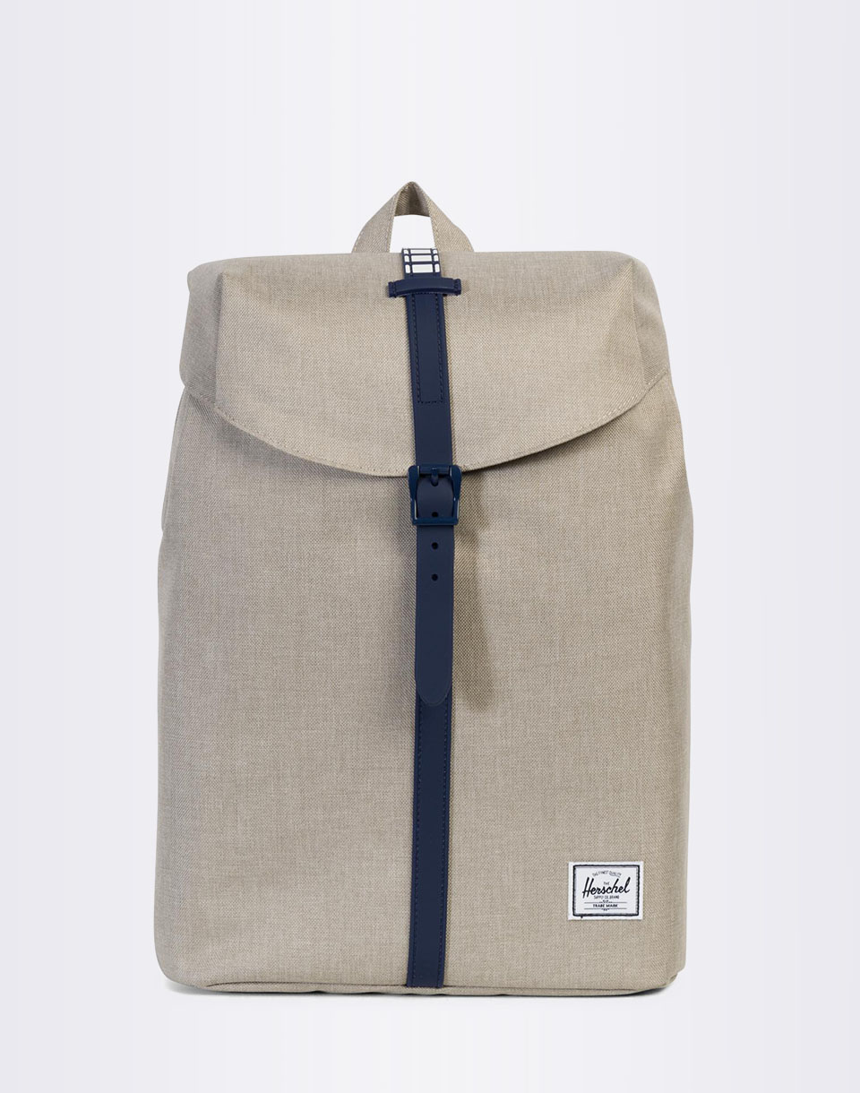 Batoh Herschel Supply Post Light Khaki Crosshatch / Peacoat Rubber / White Inset + doprava zdarma