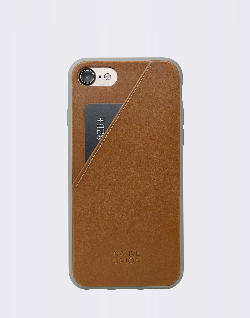 Native Union Clic Card iPhone 7 8 TAN TAU