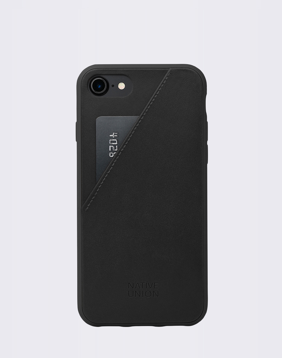 Native Union Clic Card iPhone 7 8 Black  Black
