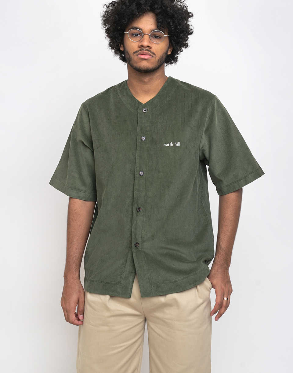 North Hill Baseball Jersey Corduroy Green L
