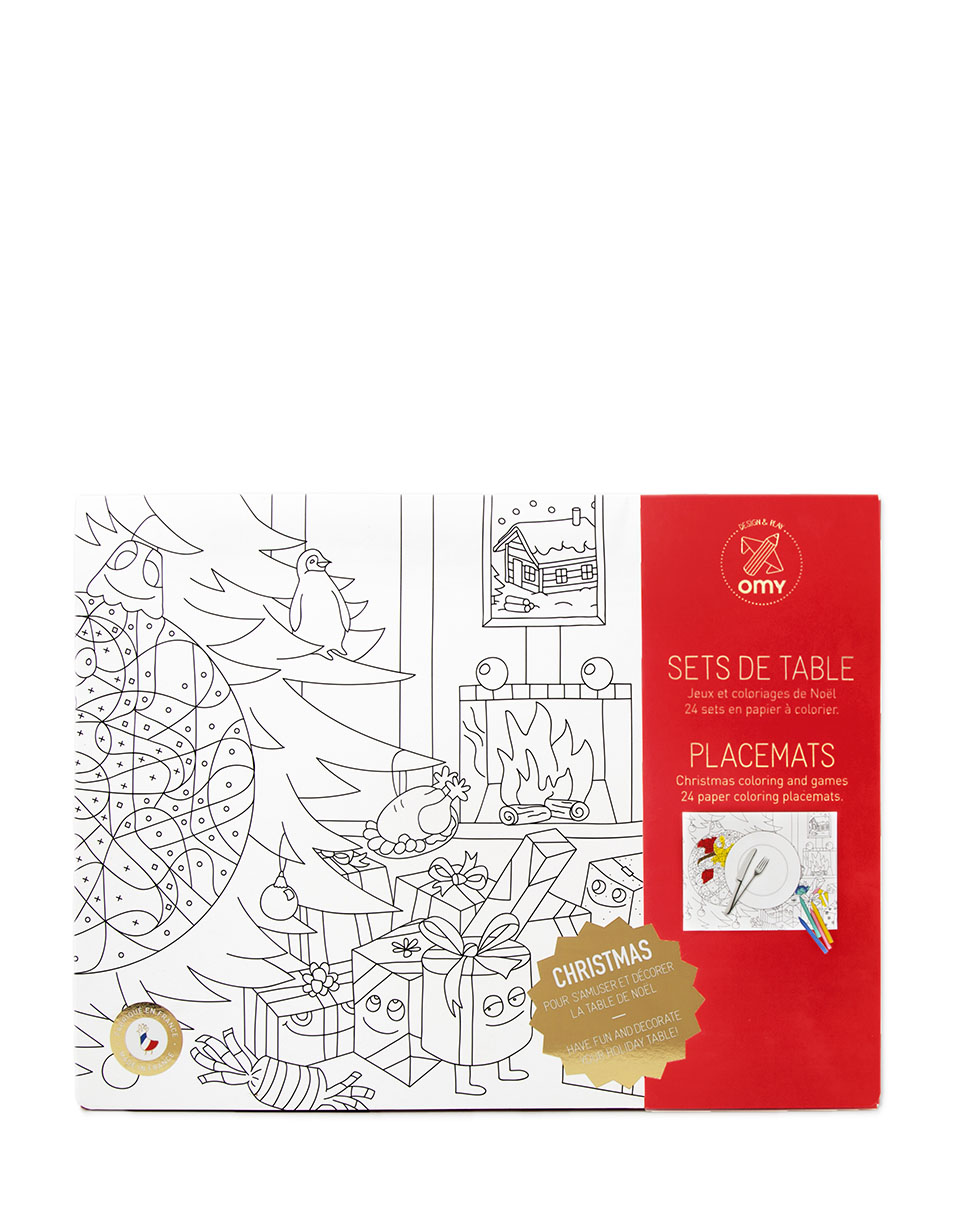 OMY Coloring Placemats - Christmas