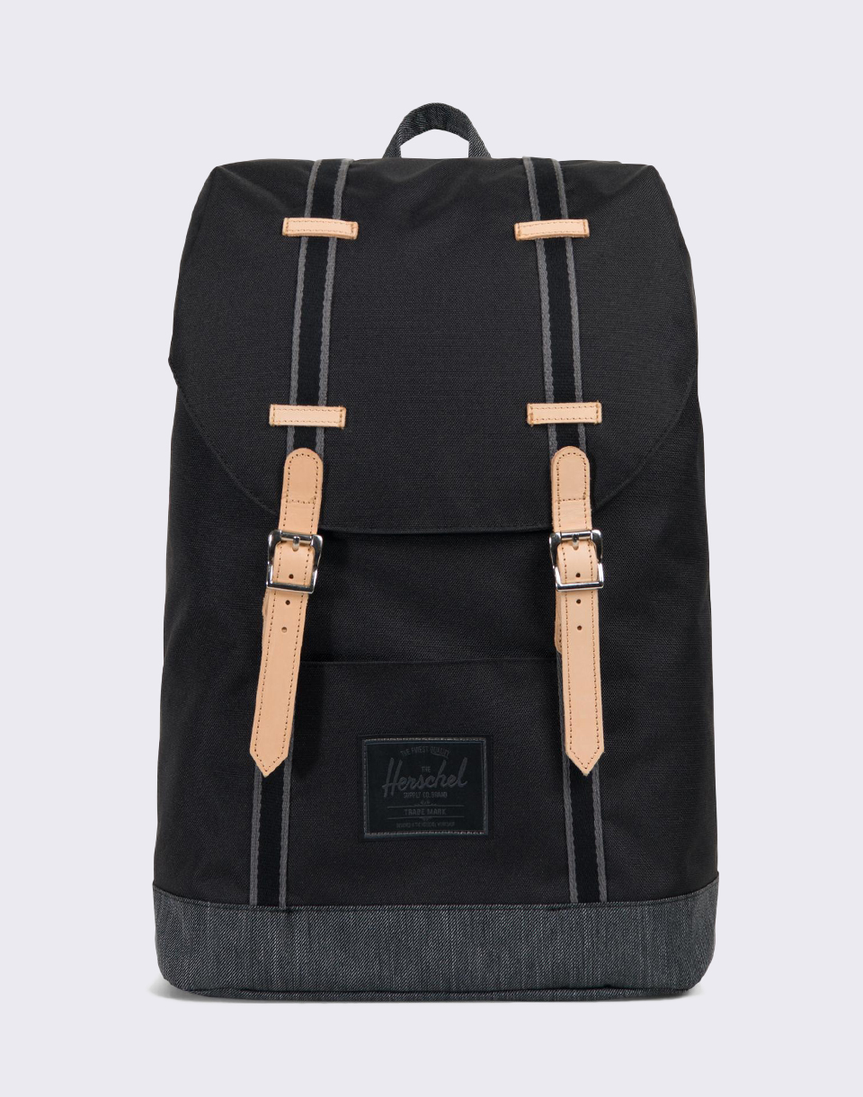 Herschel Supply Offset Retreat Black Black Denim