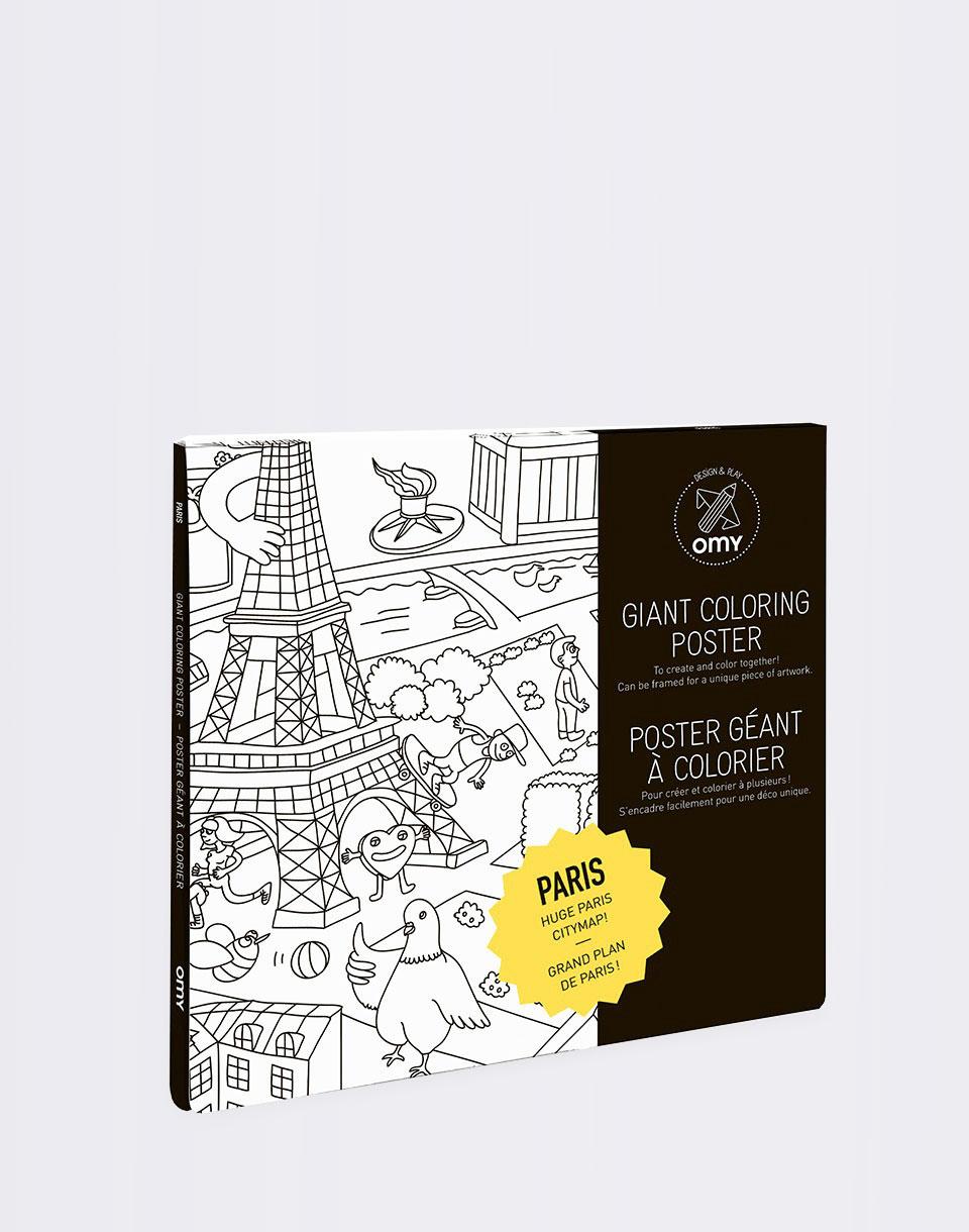 Cestování OMY COLORING POSTER - PARIS