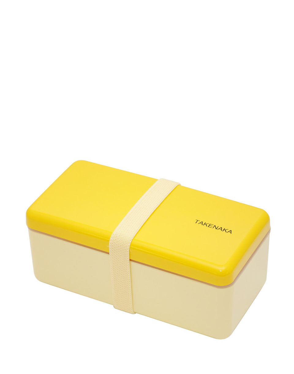 Takenaka Bento Box Ractangle Slim Yellow