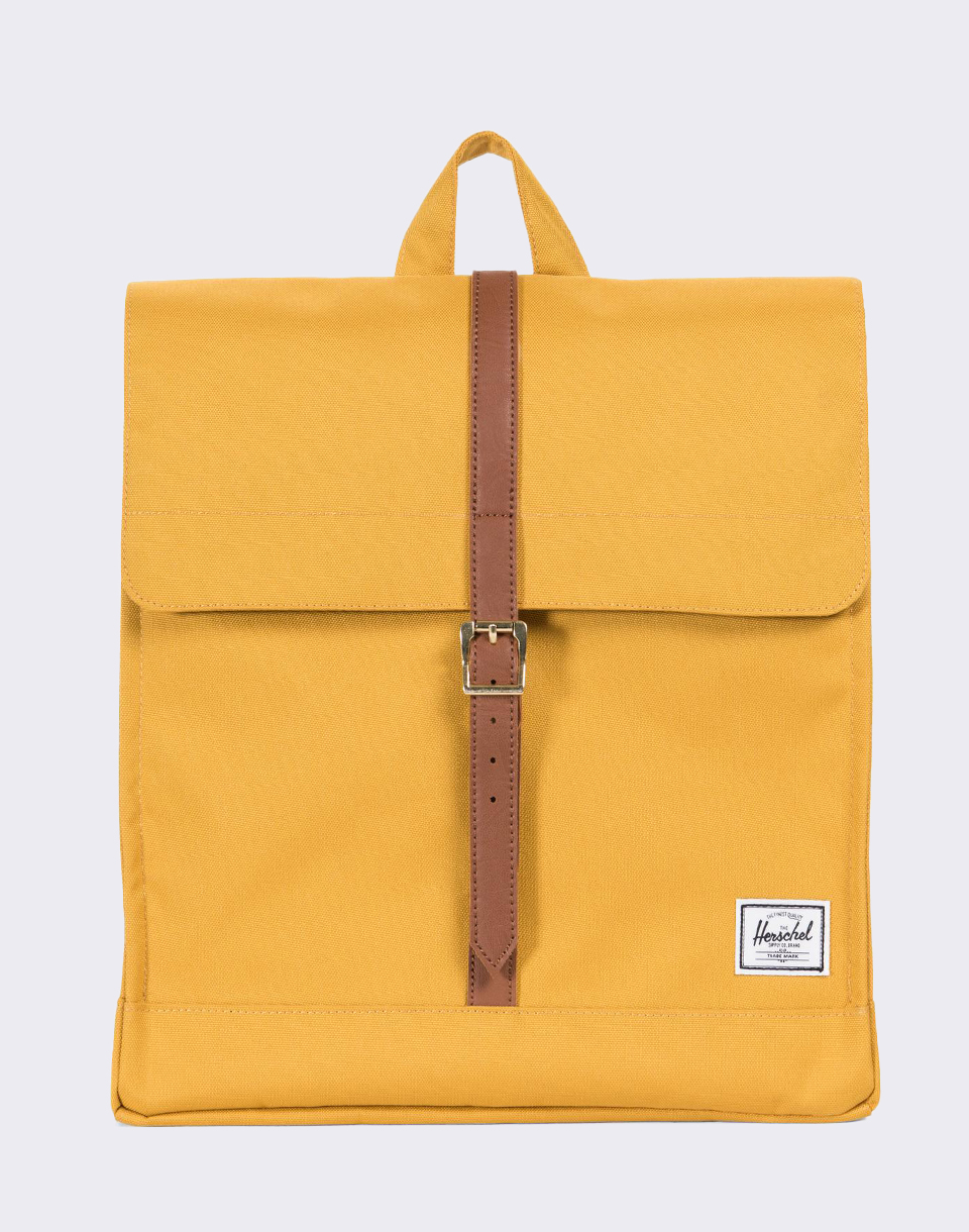 Herschel Supply City Mid Volume Arrowwood Tan Synthetic Leather