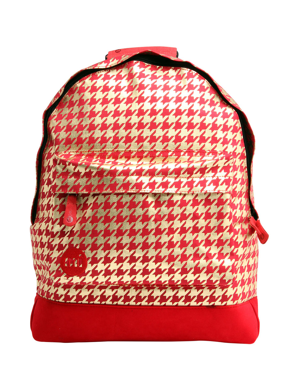 Mi Pac Houndstooth Red Gold