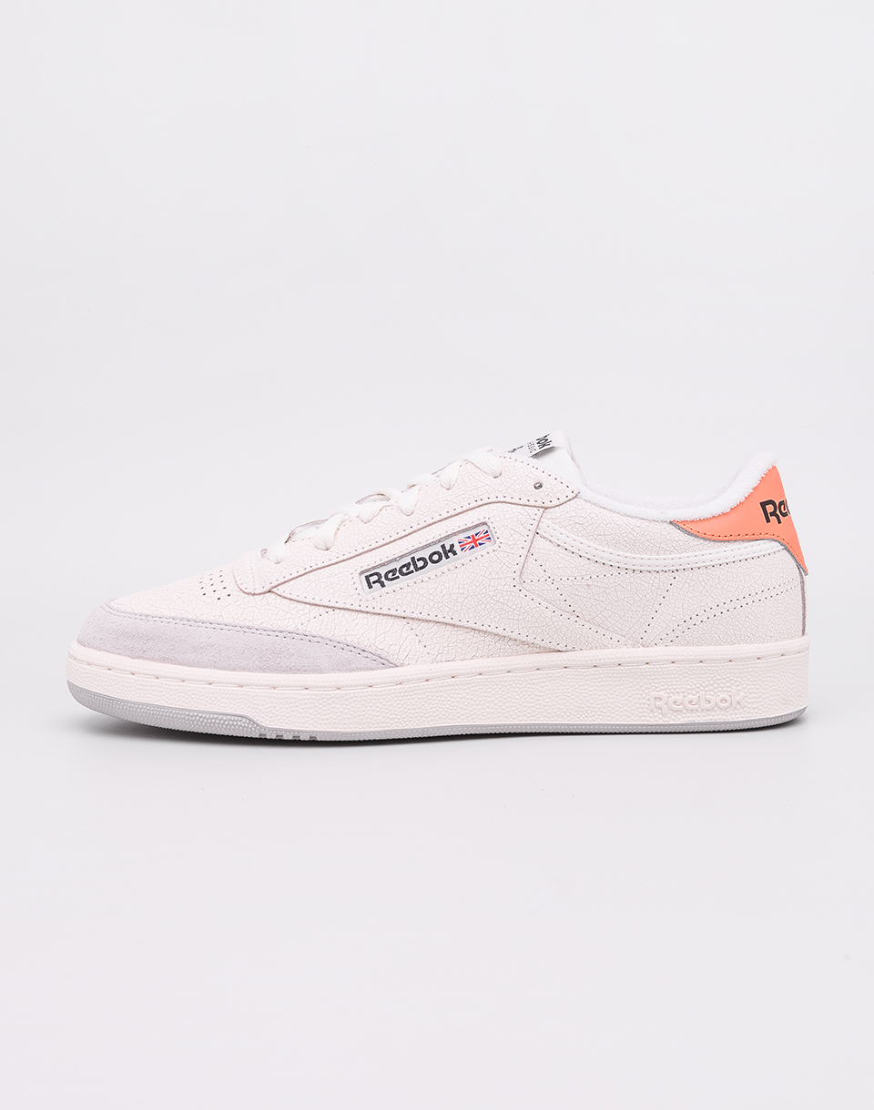 Reebok Club C 85 FT Chalk  Sunbaked Orange  Skull Grey  Black 45 5