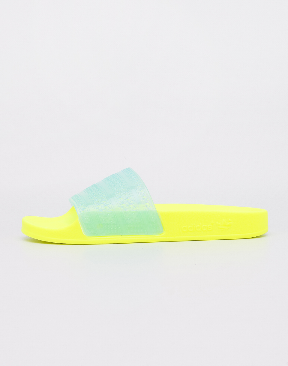 Adidas Originals Adilette Lilo Solar Yellow  Clear Aqua  Solar Yellow 40 5