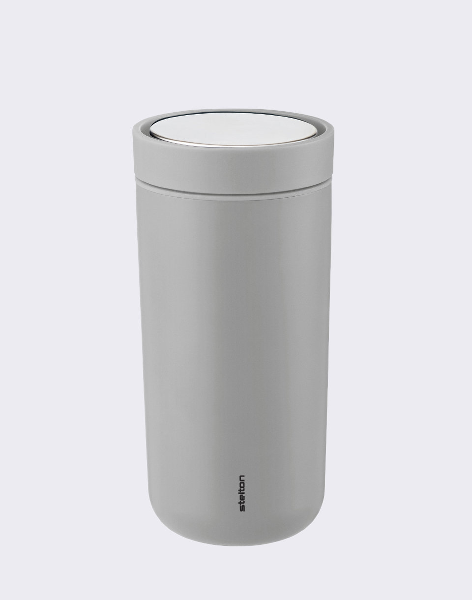 Stelton To Go Click 0 4 l Matt Light Grey