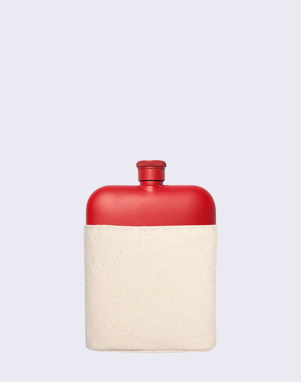 Men s Society Canvas Hipflask Red