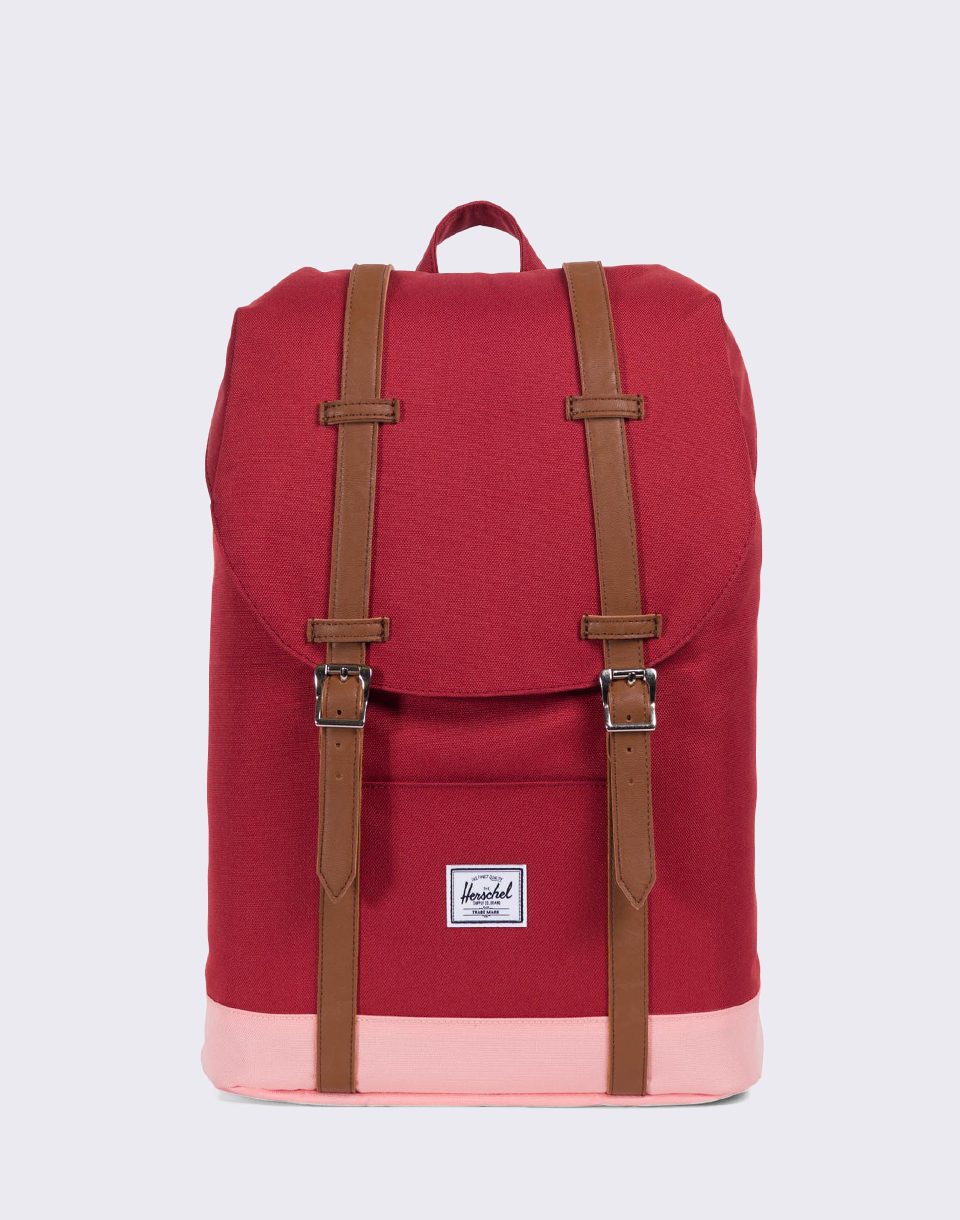 Herschel Supply Retreat Mid Volume Brick Red Peach