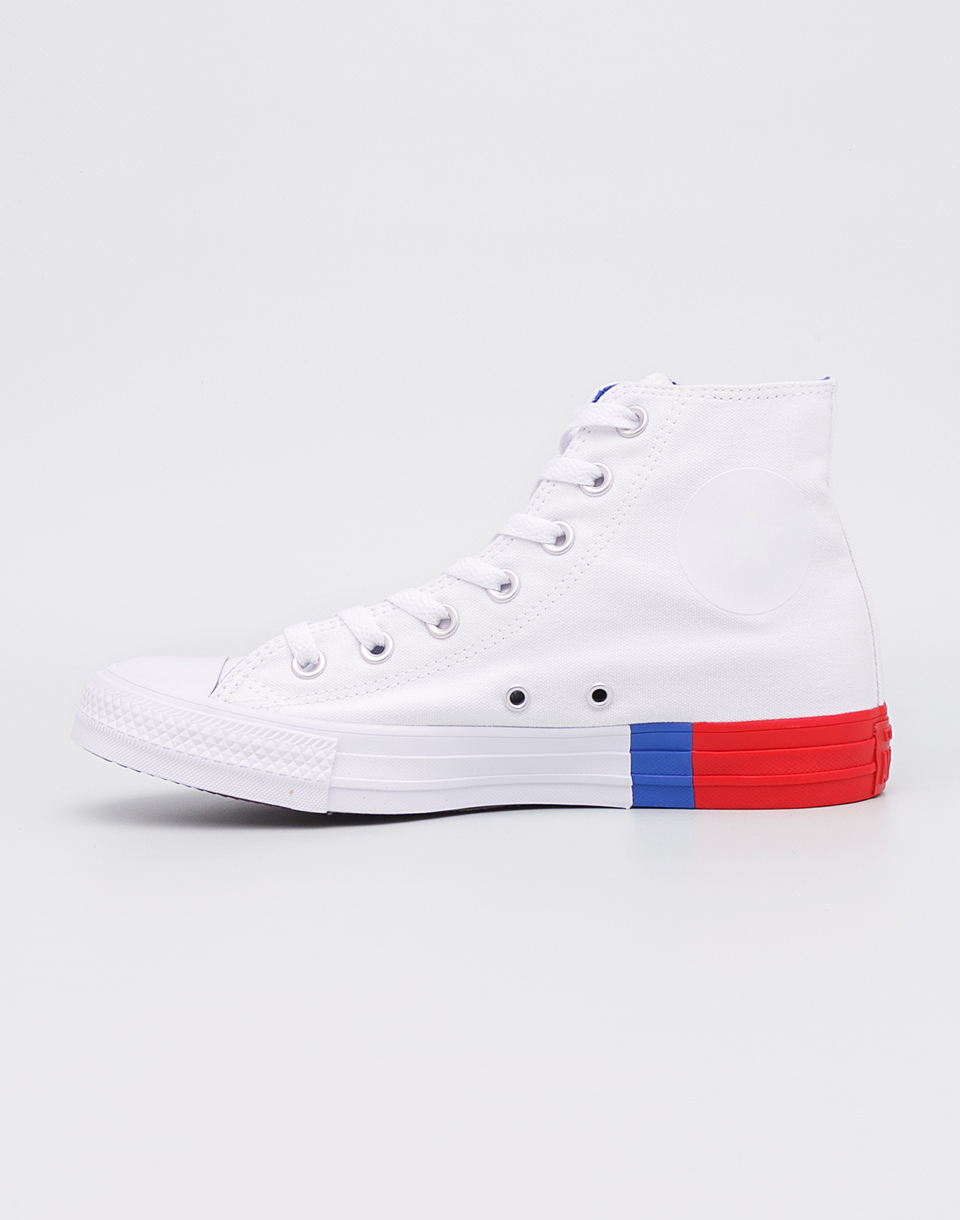 Converse Chuck Taylor All Star White Red Blue 38