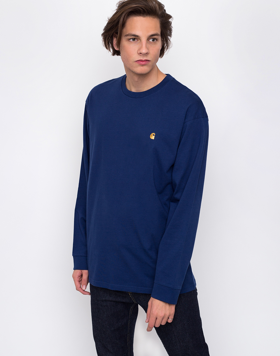 Carhartt WIP Chase Metro Blue   Gold L