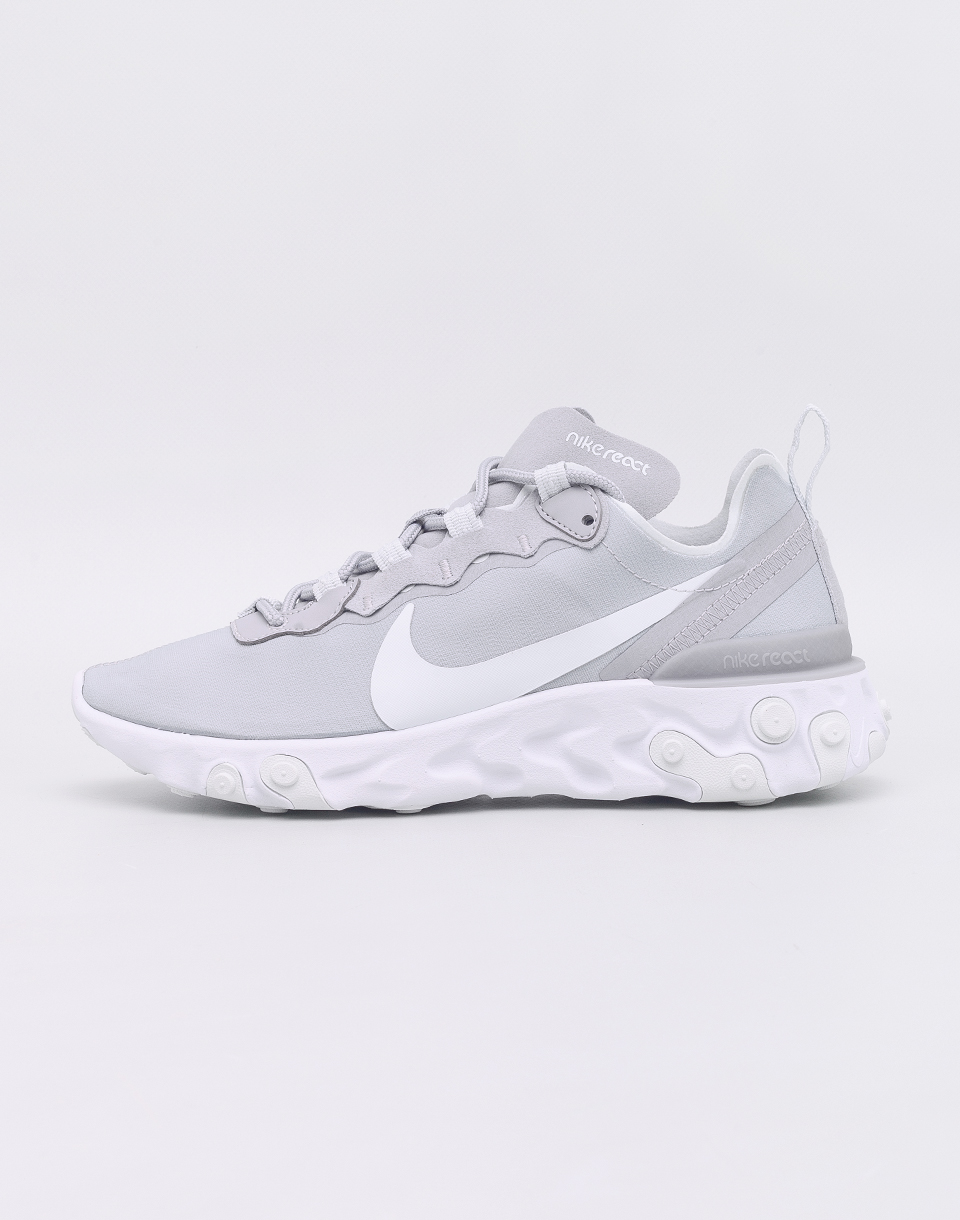 Nike React Element 55 Wolf Grey/ Ghost Aqua - White 37,5