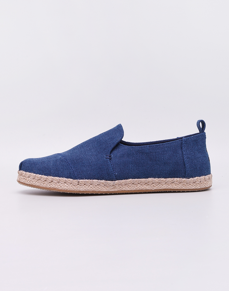 Toms Deconstructed Alpargata Rope Navy Washed Canvas 42