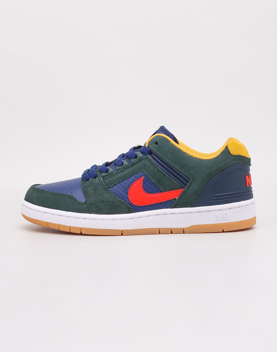 Nike SB Air Force II Low Midnight Green  Habanero Red - Blue Void 42 b75e6d4bd52