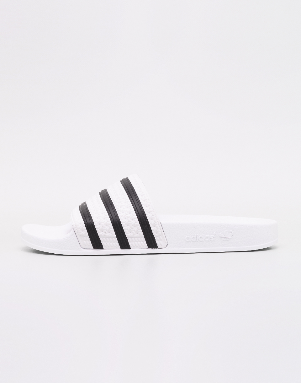 Adidas Originals Adilette White   Core Black   White 42