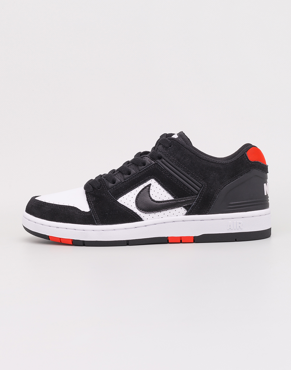 Nike SB Air Force II Low Black  Black  White  Habanero Red 41