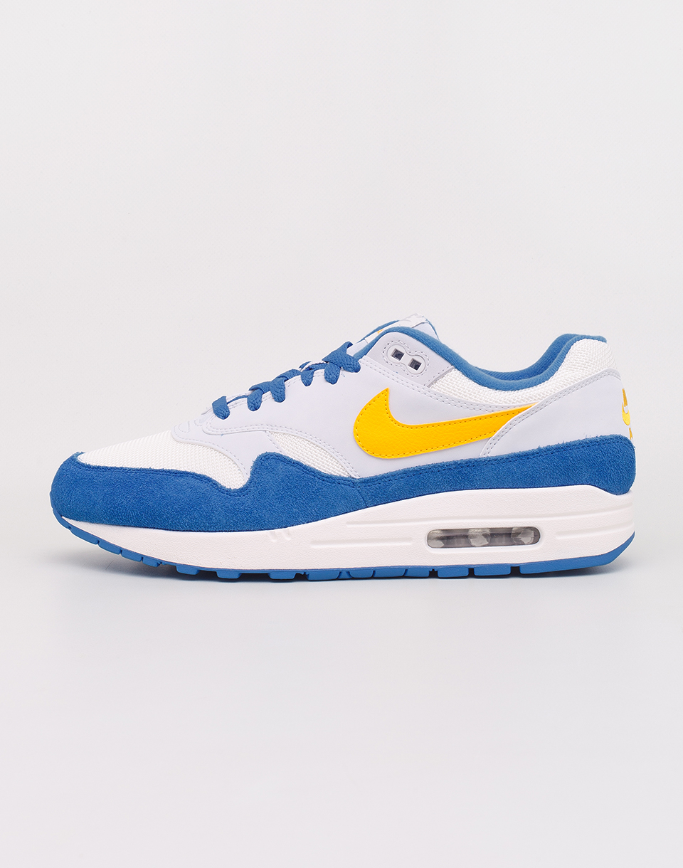 Nike Air Max 1 Sail  Amarillo  Pure Platinum  Signal Blue 41
