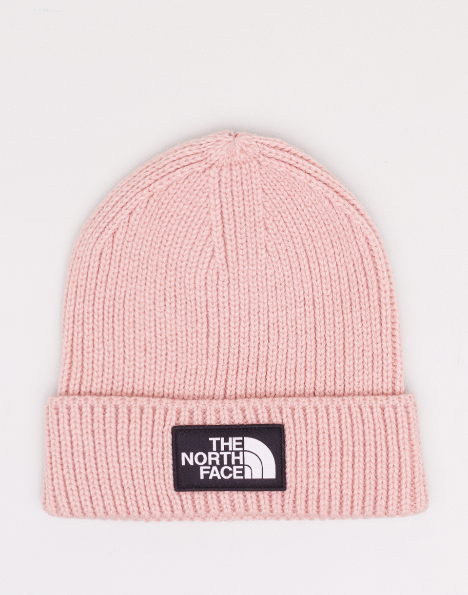 The North Face TNF Logo Box Cuff Beanie Misty Rose