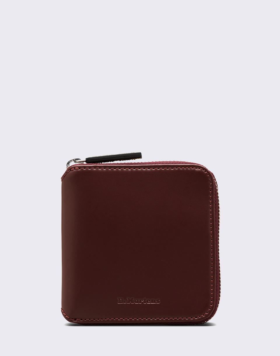 a9cf69eca7 Dr. Martens Leather Zip Wallet Cherry Red Kiev