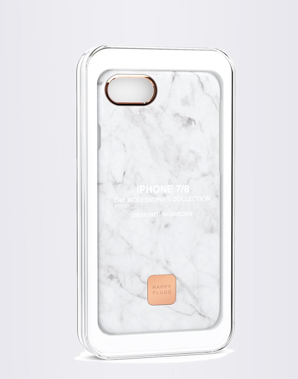 Happy Plugs iPhone 7/8 Slim Case White Marble