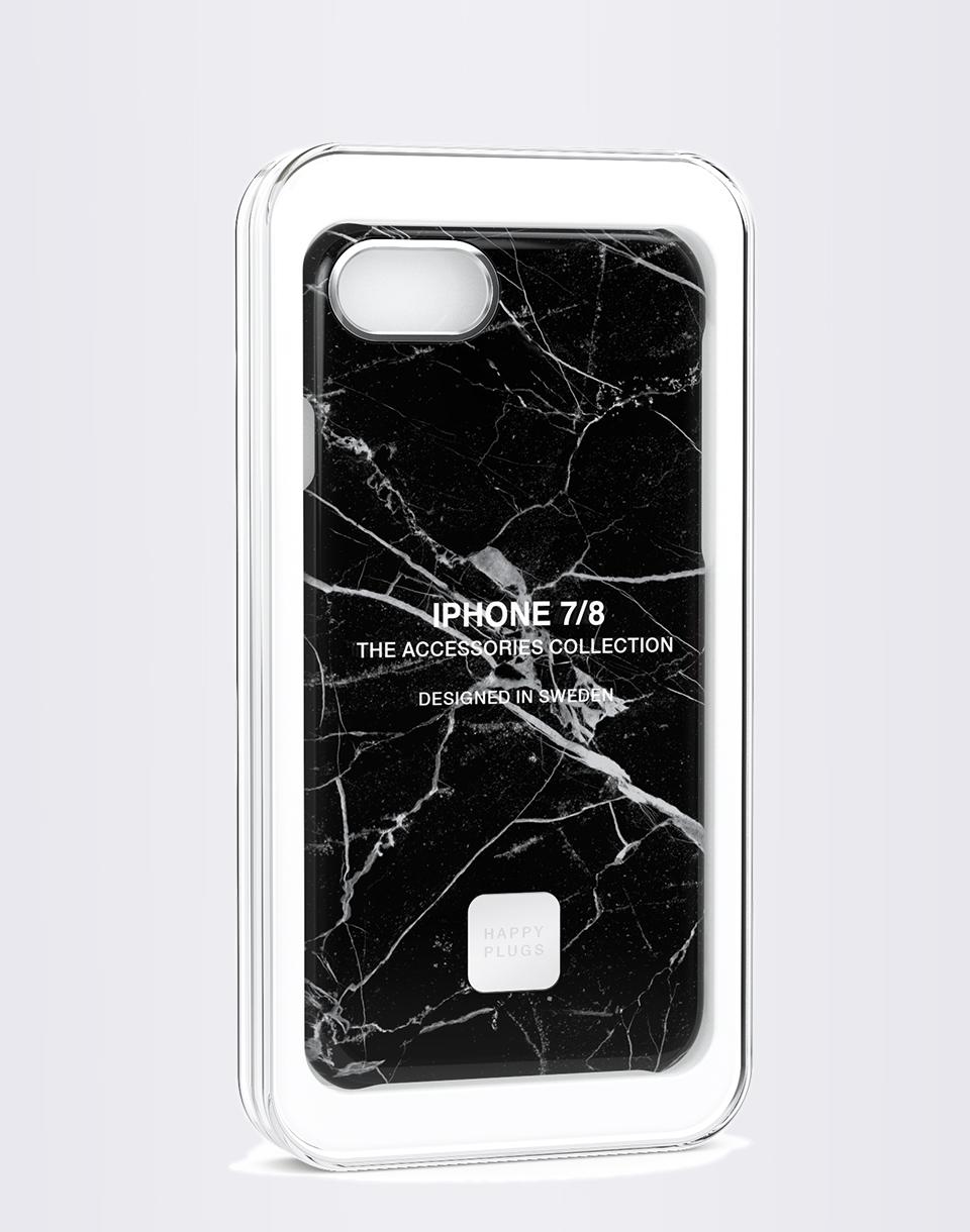 Happy Plugs iPhone 7/8 Slim Case Black Marble