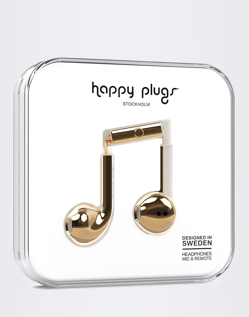 Sluchátka Happy Plugs Earbud Plus Gold