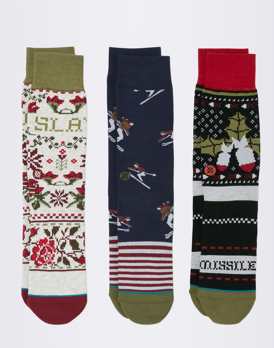 Stance Holiday 3 Pack Multi L