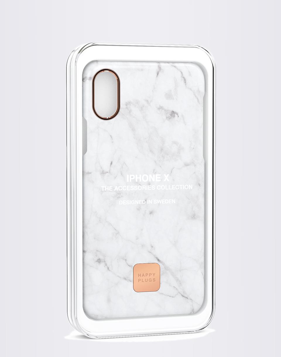 Na telefon Happy Plugs iPhone X Slim Case White Marble