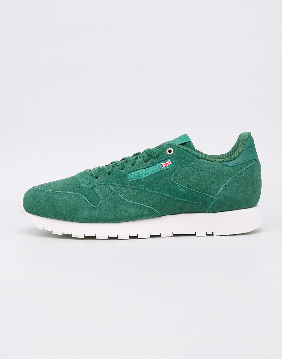 Reebok Montana Cans Classic Leather Fern Green   Chalk 42