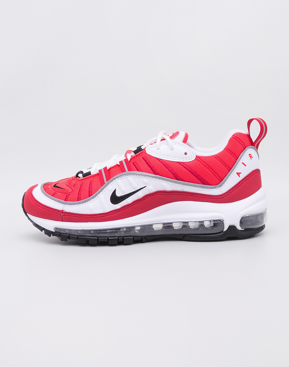 Nike Air Max 98 White Black Gym Red Reflect Silver 40