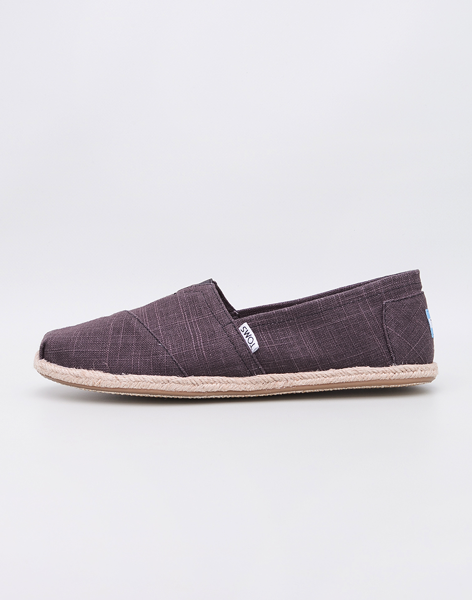 Toms Classic Black Linen Rope Sole 44