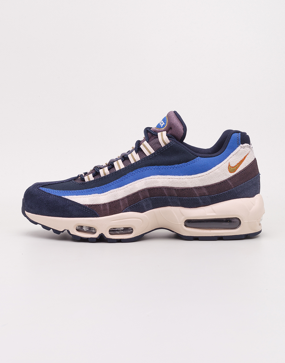 Nike Air Max 95 Premium Blackened Blue  Camper Green   Monarch 41