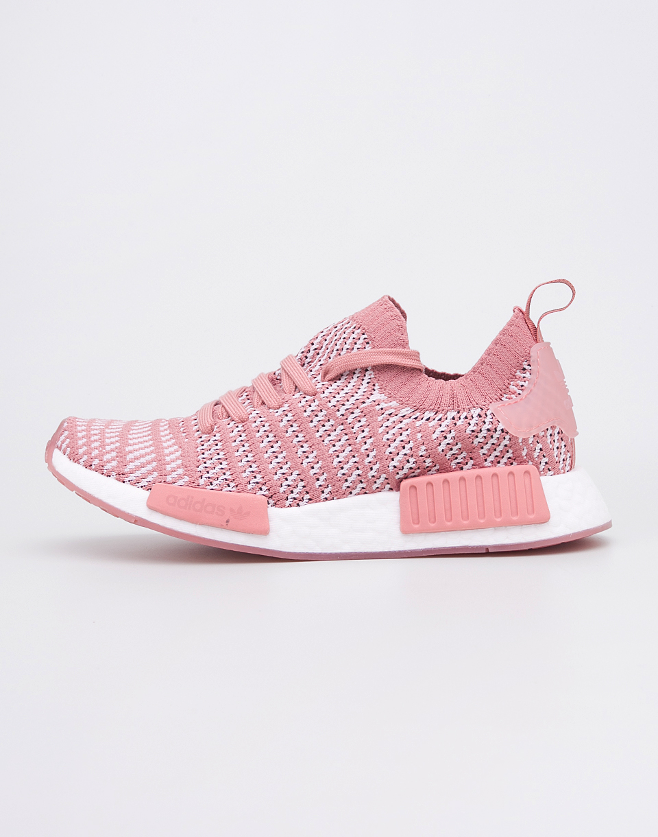 Adidas Originals NMD R1 STLT Primeknit Ash Pink   Orchid Tint   Footwear White 38