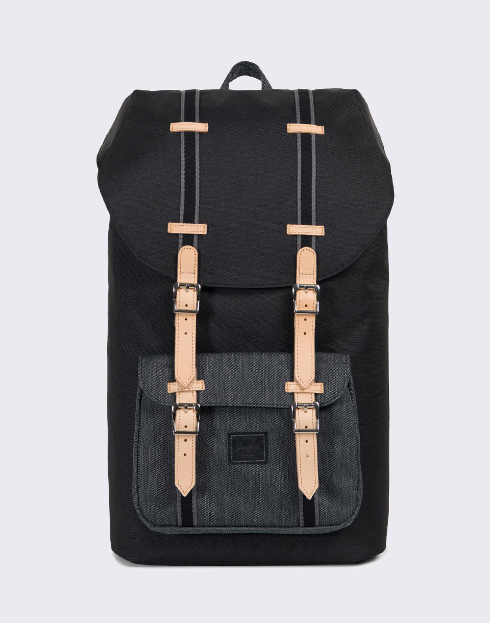 Herschel Supply Offset Little America Black Black Denim