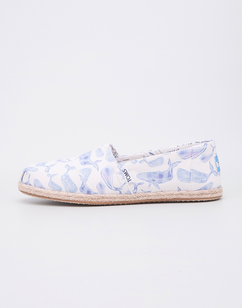 Toms Classic Multi Watercolor Whale Canvas 36