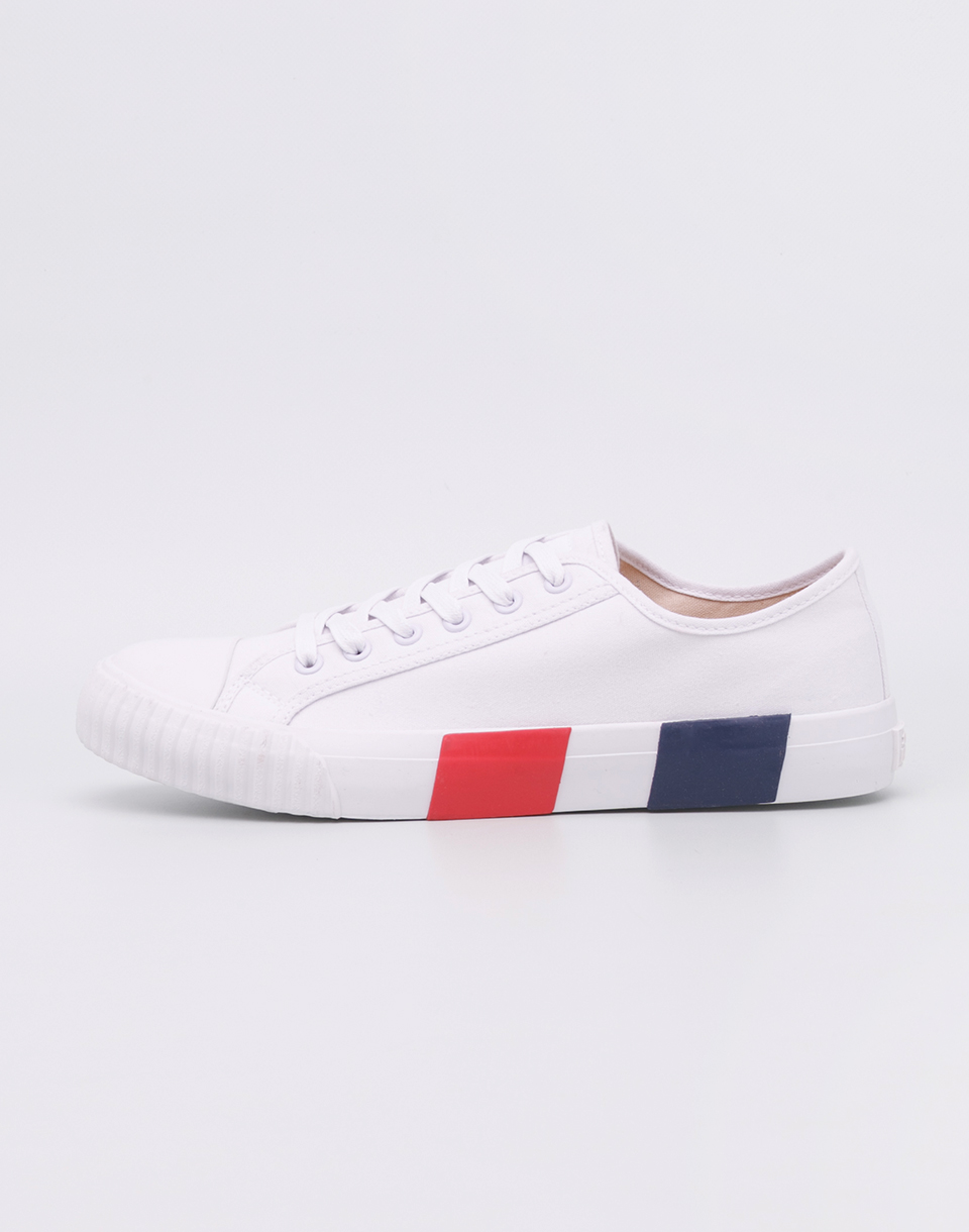 Baťa Heritage Bullets Striped Foxing White Red Blue 43
